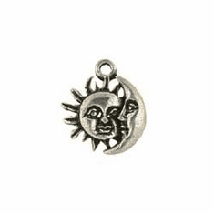 """SUN AND MOON PEWTER CHARM (0.7"""" x 0.6"""")"""