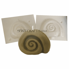 """SWIRLED SEA SNAIL <BR> SHELL CANDLE MOLD <BR> (3.5"""" HT, 4 oz)"""