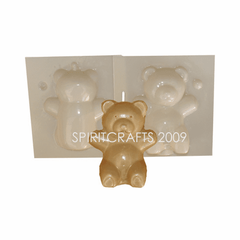 """TEDDY BEAR <BR>CANDLE MAKING MOLD<BR> (3.25"""" HT, 3.5 oz)"""