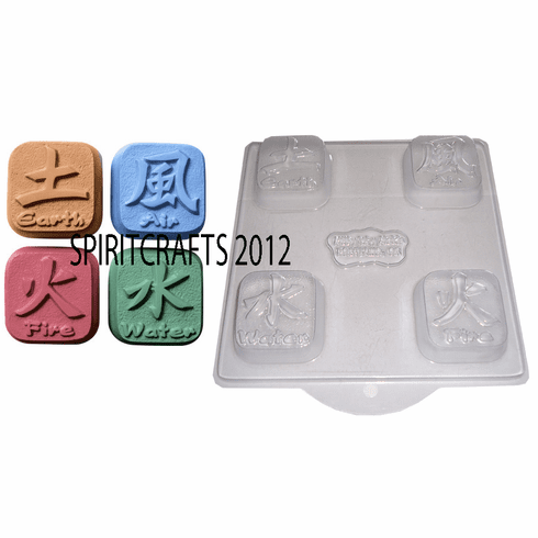THE ELEMENTS CHINESE SOAP MAKING MOLD (4 WELL)