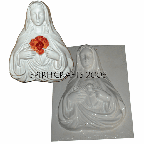 "THE IMMACULATE HEART OF MARY PLASTER MOLD (12"" HT)"