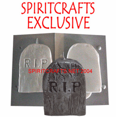 """TOMBSTONE CANDLE MAKING MOLD (4.25"""" HT)"""