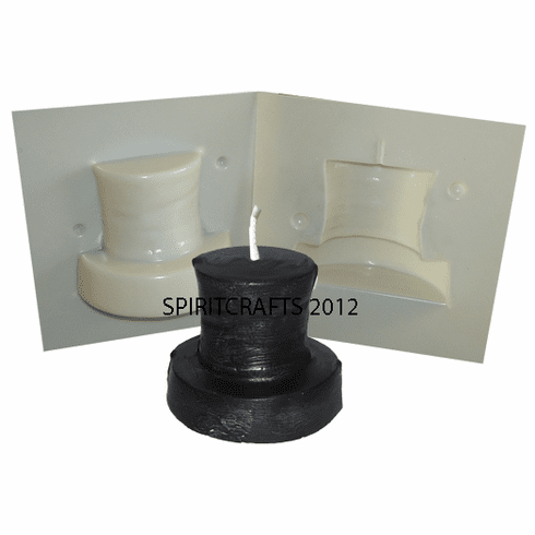 """TOP HAT CANDLE MAKING MOLD (3"""" HT, 1 lb)"""