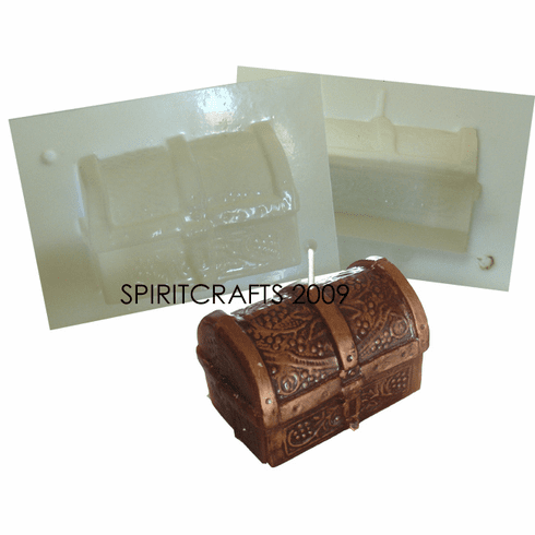 """TREASURE CHEST CANDLE MAKING MOLD (2 5/8"""" HT)"""