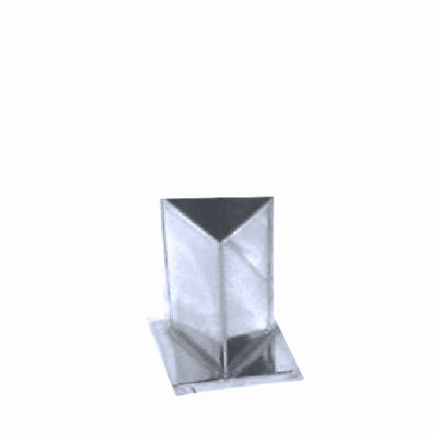 "TRIANGLE PILLAR CANDLE MOLD, 2.75"" x 4"" (10 oz)"