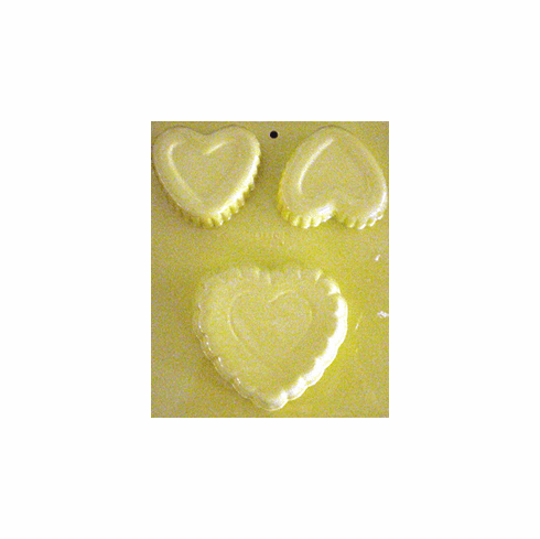 TRIPLE HEART CAKE <br> WAX MOLD