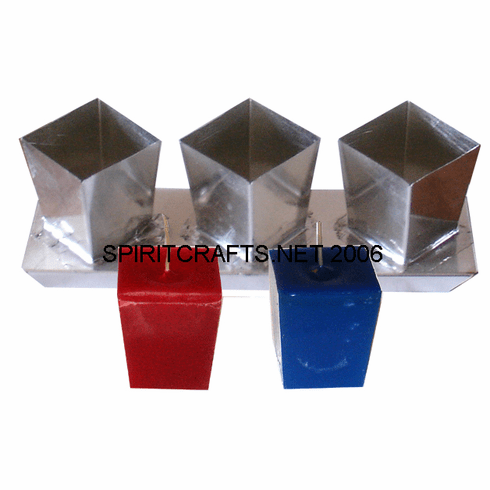 """TRIPLE TAPERED SQUARE VOTIVE CANDLE MOLD, 2"""" HEIGHT"""