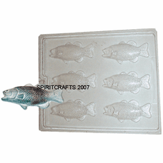 TROUT OR BASS SOAP / CANDY MOLD, 6 WELL
