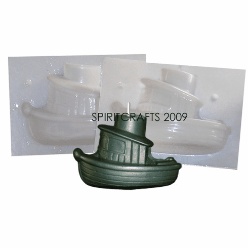"TUGBOAT CANDLE MAKING MOLD (4.25"" HT, 1 lb 5 oz)"