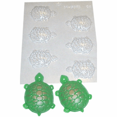 TURTLE CANDLE EMBED / CANDY MOLD, 6 WELL