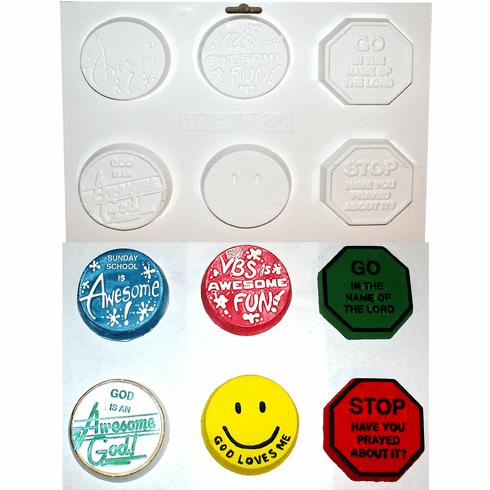 VACATION BIBLE SCHOOL PLASTER CRAFT MOLD, 6 ON 1
