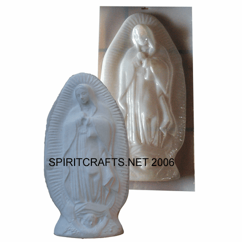 """VIRGIN OF GUADALUPE CONCRETE CASTING MOLD (26.5"""" HT)"""