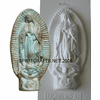 "VIRGIN OF GUADALUPE PLASTER CRAFT MOLD (9.75"" HT)"