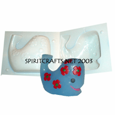 """WHALE WITH <br>FLOWERS CANDLE<br>MOLD (4.25"""", 1 lb 4 oz)"""