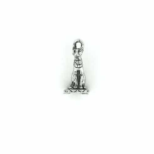 """WICCA EGYPTIAN TALL CAT PEWTER CHARM, .75"""" TALL"""