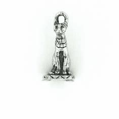 "WICCA EGYPTIAN TALL CAT PEWTER CHARM, .75"" TALL"