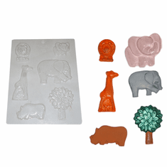 WILD ANIMAL CHOCOLATE MOLD (GIRAFFE, ELEPHANT, MORE)