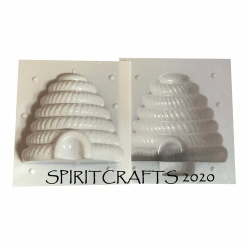 """XXL SKEP BEEHIVE <BR> CANDLE MAKING MOLD <BR> 7"""" x 7 1/2"""" DIA"""