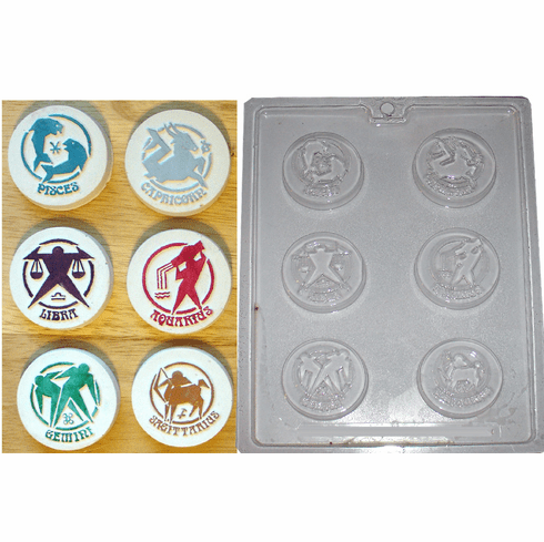 ZODIAC (#1) CANDY / EMBED MOLD (6 WELL)