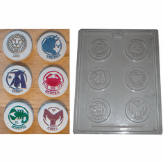 ZODIAC (#2) CANDY / EMBED MOLD (6 WELL)