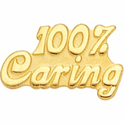 100 Percent Caring Pin - Click to enlarge