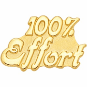 100 Percent Effort Pin (BR Series) - Click to enlarge
