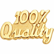 100 Percent Quality Pin - Click to enlarge