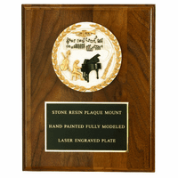 "4"" Cast Stone Subject Plaque - 8"" x 10"""