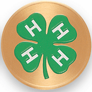 4 H Club Litho Medal Insert - Click to enlarge