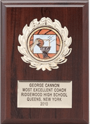 5x7 Walnut Finish Plaque with Insert - Click to enlarge