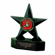 7 Inch Black Star Resin Insert Trophy - Click to enlarge