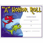 A Honor Roll Certificates - Click to enlarge