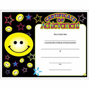 Certificate of Achievement - Click to enlarge