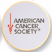 American Cancer Society Medal Insert (Etched) - Click to enlarge