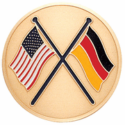 American & German Flags Medal Insert (Etched) - Click to enlarge