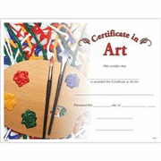Art Certificates - Click to enlarge