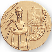 Art Painting Sculpture Litho Medal Insert - Click to enlarge