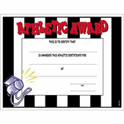 Athletic Award Certificate - Click to enlarge