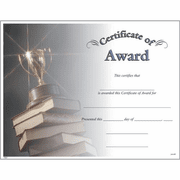 Certificate of Award - Click to enlarge