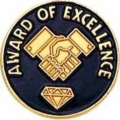 Award Of Excellence Lapel Pin (BR Series) - Click to enlarge