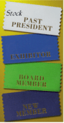 Stock Badge & Conference Ribbons - Click to enlarge