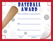 Baseball Certificate (Free!) - Click to enlarge