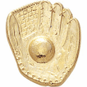 Glove & Ball Lapel Pins - Gold - Click to enlarge