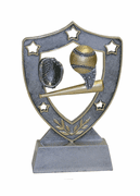 Star Shield Engraved Trophy - Baseball - Click to enlarge