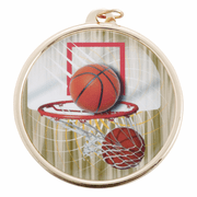 Color Medals (2 3/16 Inch) - Basketball - Click to enlarge