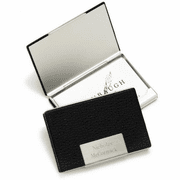 Black Leather Business Card Case - Click to enlarge