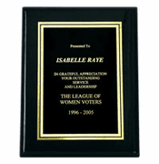 Black Piano Engraved Award Plaques (7x9) - Click to enlarge