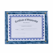 Blue Plaque - Fits 8 1/2 x 11 Certificate - Click to enlarge