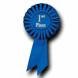 First Place Blue Ribbons - Click to enlarge