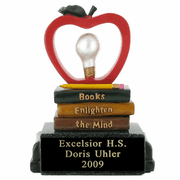 Resin Series - Books Enlighten The Mind Reading Trophy - Click to enlarge